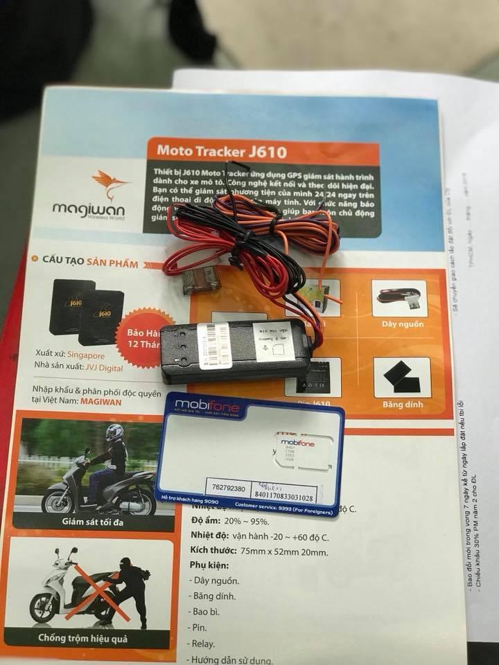 Định vị Motor Tracker J610 STD-1012 STD
