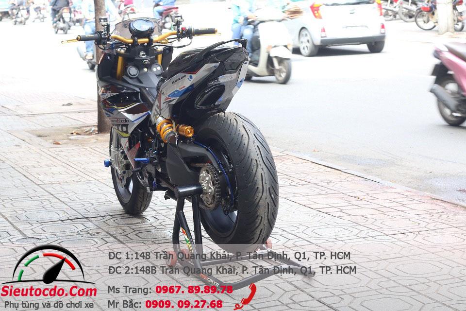 Yamaha Exciter độ dàn chân Ducati 1199, pô Akrapovic bởi Siêu Tốc Độ