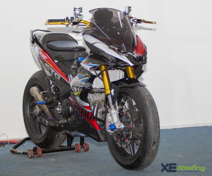 """Yamaha Exciter 150 độ cực độc với dàn """"chân"""" từ Ducati 1199"""